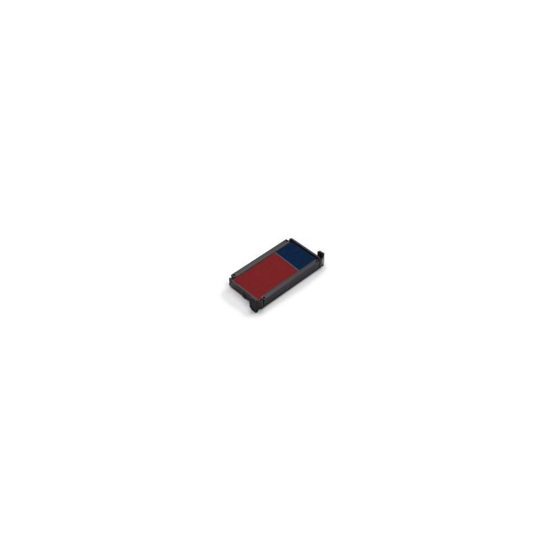 Cassette d'encrage bicolore pour Trodat 5117, 5204, 5206, 5460, 5465, 5558, 55510, 5466