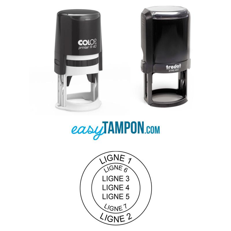 Votre tampon COLOP ou TRODAT au format rond pour tampon de notaire ou de société
